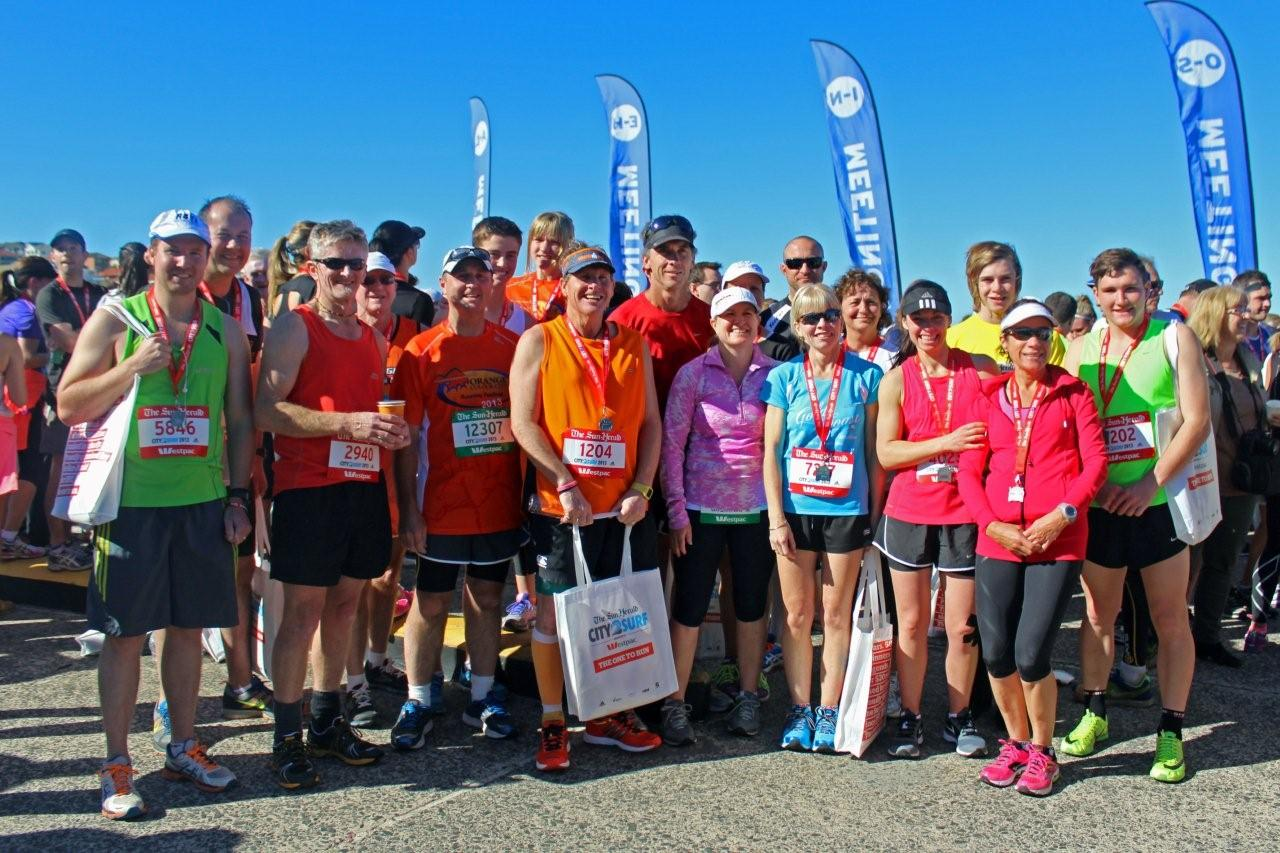 A Small Group of Orange Runners Club Members