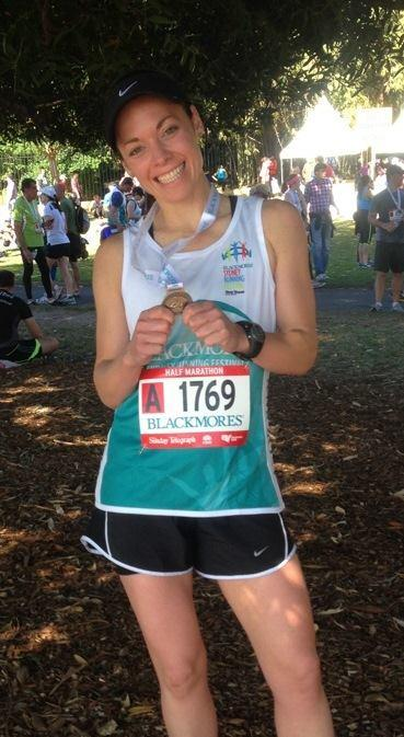 Leanne Corcoran continued her good form into Sunday's run after a strong showing at the Blackmores Half Marathon in Sydney.