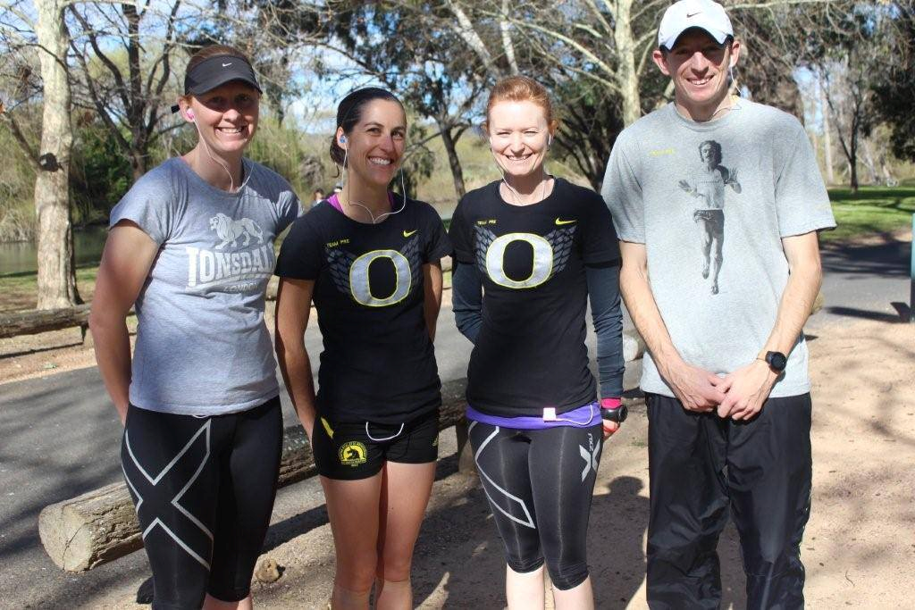 SUPER TEAM: The team of Nicole Williamson, Liz Simpson, Carrie Williamson and Williamson finished on the podium for the team marathon at the Carcoar Cup on the weekend.