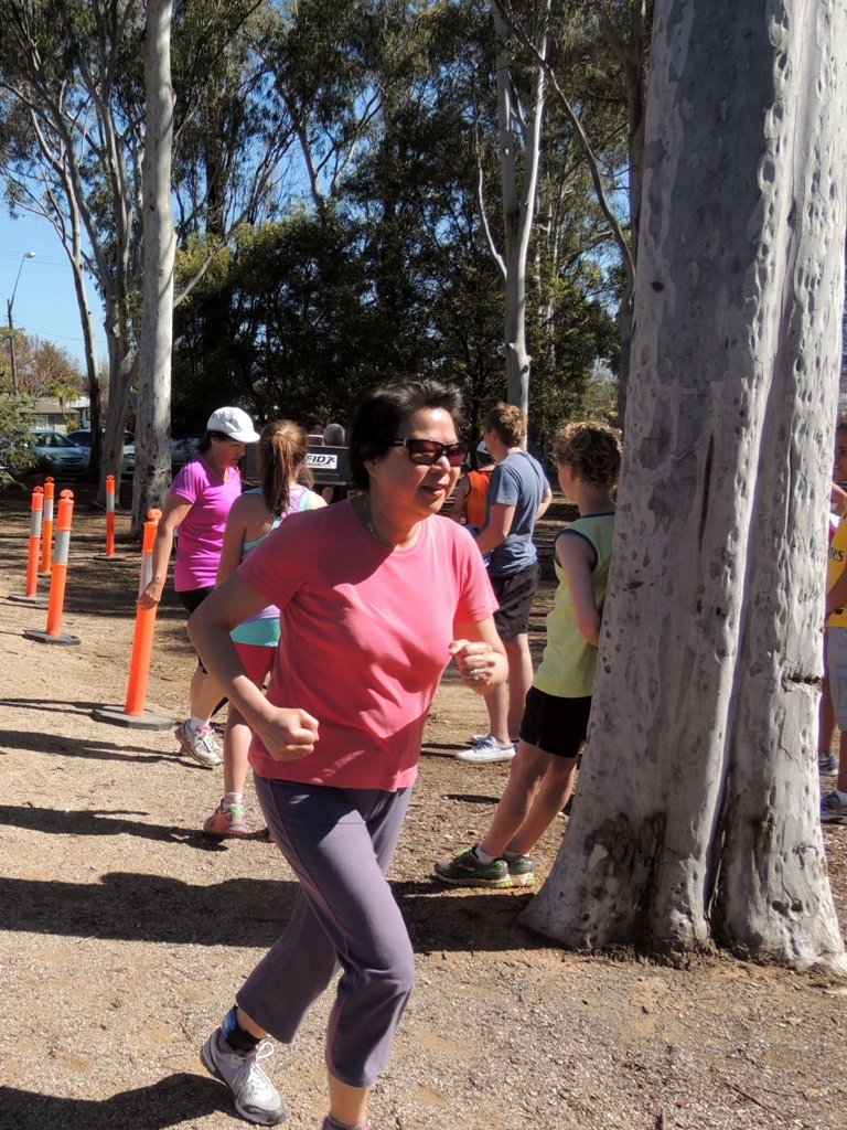 HAPPY RUNNER: Man Ha Mackay is a relatively new member who has shown great improvement and enjoyment from her involvement with Runners' Club.