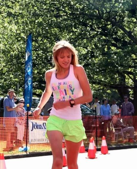 FAST FEET: Kinisha Roweth was Sunday's overall winner at Gosling Creek and fastest over the 2.5km course.
