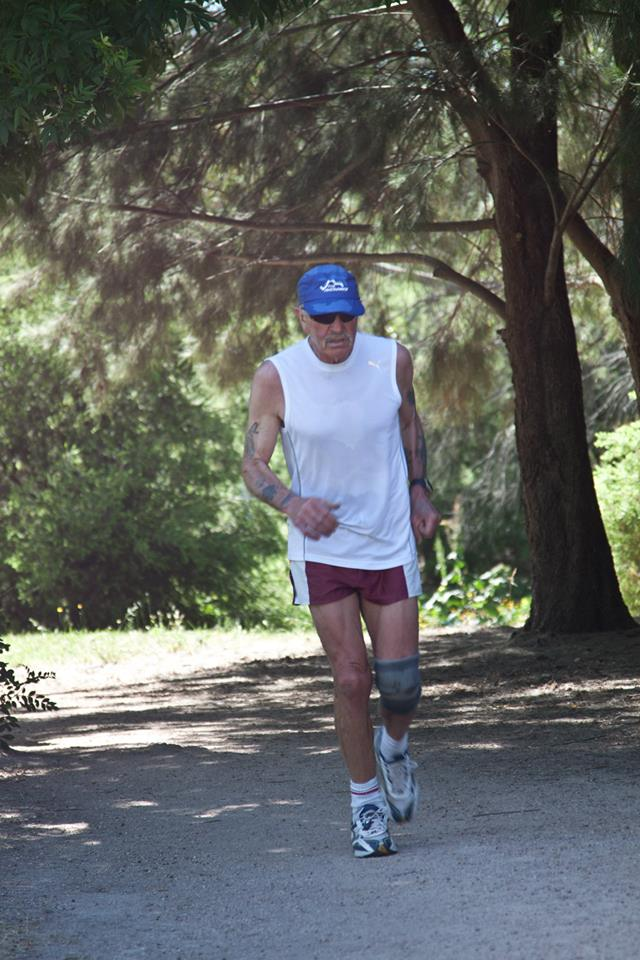 HE'S BACK: Runners' Club long time member Jim Rich, who regularly attends Sunday runs, has made a return to the Wednesday Elephant Park runs in the last few weeks and this week made an improvement on his personal best for the three laps.