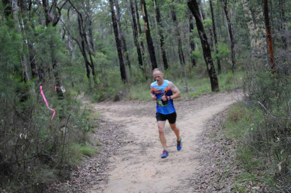 Iain McLean competing in the Knapsack challenge in the Blue Mountains on Australia Day.