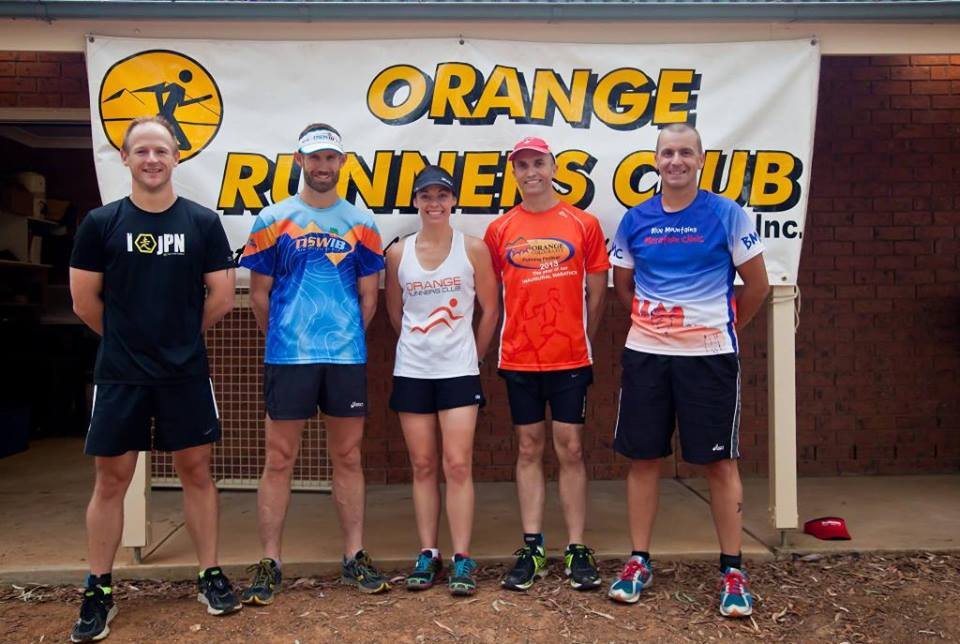 ON TRACK: ORC members Iain McLean, David Ross, Leanne Corcoran, Mitch Essex and Brett Sammut lined up for the 6 Foot Track Marathon last weekend.