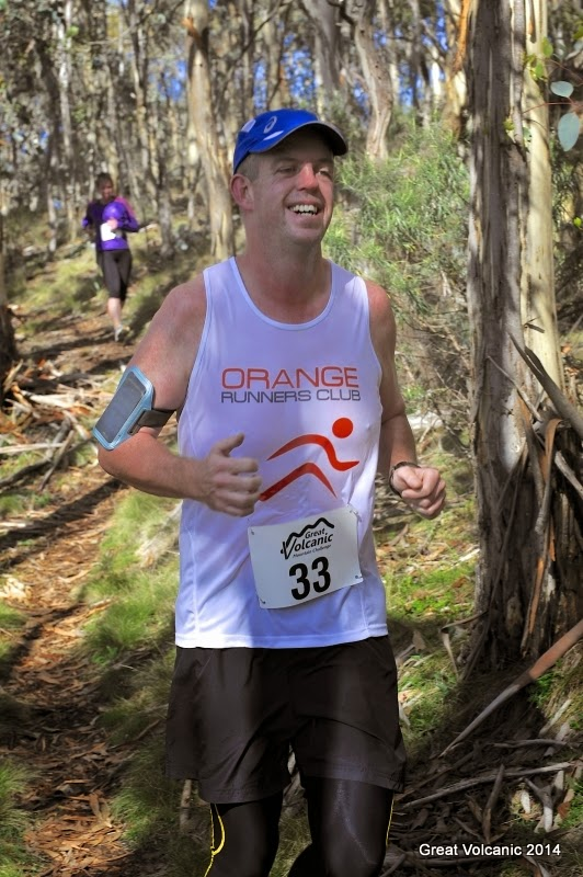 HILL CLIMBER: Leon Lincoln was all smiles in the 2014 Great Volcanic Mountain Challenge on his way to stopping the clock in one hour and 22 minutes.
