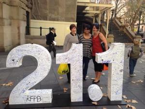 Donna Read, Renai McArdle and Sabrina Manickam at the Sydney Morning Herald Half Marathon Expo.