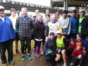 ON THE RUN: A group of the brave Orange Runners who tackled the Mount Arthur Challenge at Wellington last Saturday