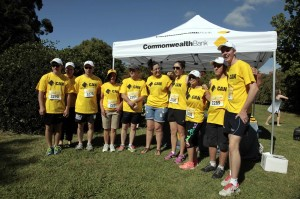TEAM FUN : The Orange Colour City Running Festival has a fund team's event, and the Commonwealth Bank team of runners who completed the event last year loved it, clearly.